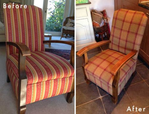 Before and After Chair Upholstery