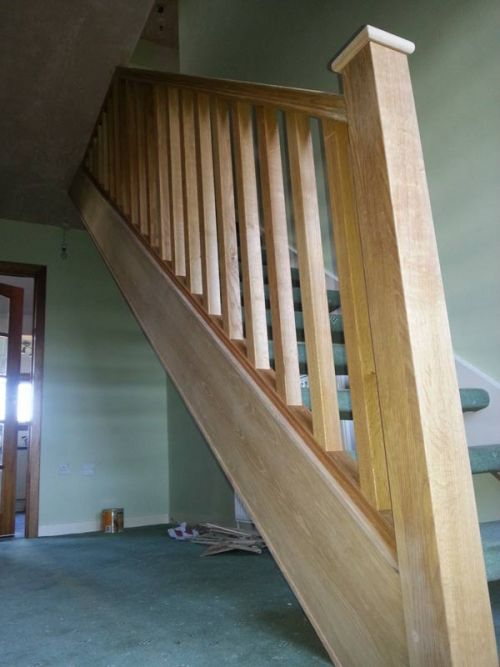 Oak Bannister Carpentry